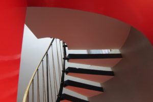 Photograph of stairs at 2 Willow Road © Ellie Doney 2012